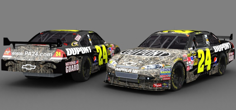 jeff gordon car crash. Jeff Gordon Camo car.